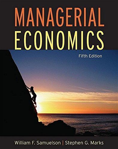 Managerial Economics 9780471663621