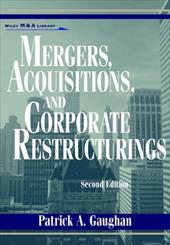 Mergers, Acquisitions, and Corporate Restructurings 1553627