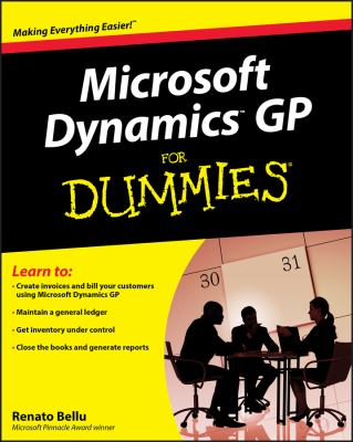 Microsoft Dynamics GP for Dummies 9780470388358