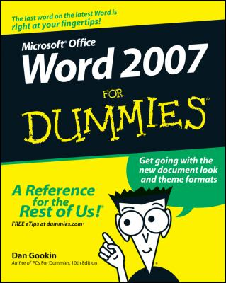 Microsoft Office Word 2007 for Dummies