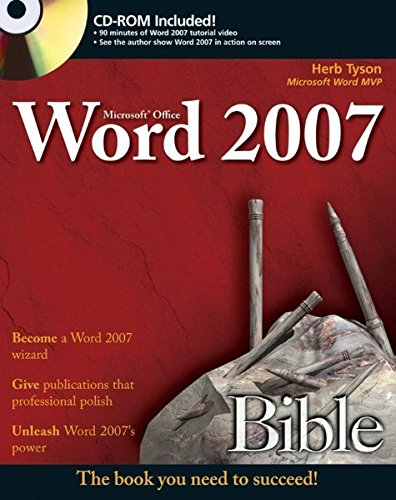 Microsoft Word 2007 Bible [With CD-ROM] 9780470046890