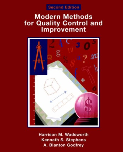 Modern Methods for Quality Control and Improvement - 2nd Edition