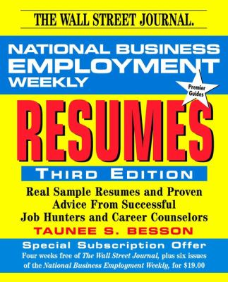 National Business Employment Weekly Guide to Resumes 9780471322597