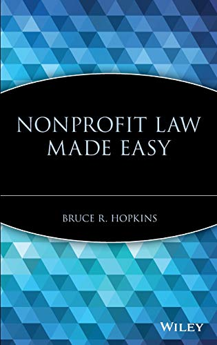 Nonprofit Law Made Easy 9780471709732