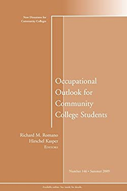 Occupational Outlook for Community College Students 9780470537329