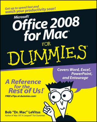 Office 2008 for Mac for Dummies 9780470270325
