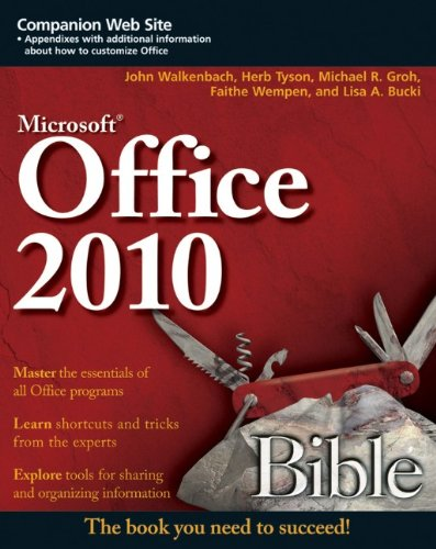 Microsoft Office 2010 Bible 9780470591857