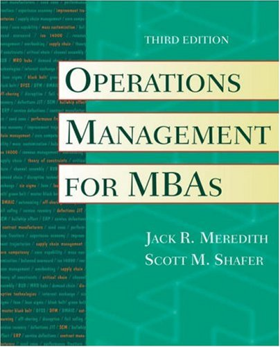 Operations Management for MBAs 9780471351429
