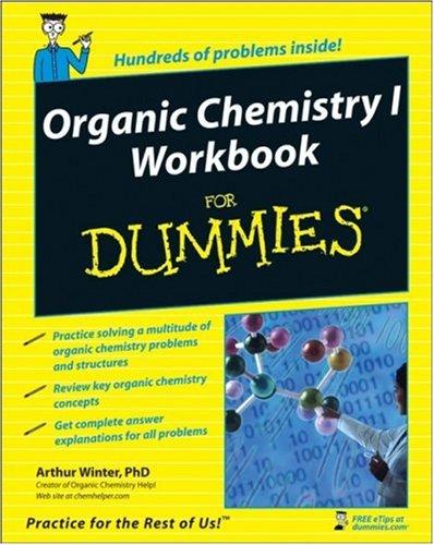 Organic Chemistry I Workbook for Dummies 9780470251515