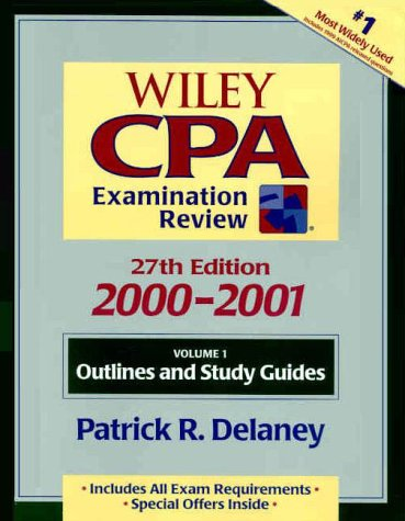 Wiley CPA Examination Review 2000-2001, Outlines and Study Guides 9780471360551