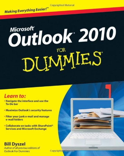 Outlook 2010 for Dummies 9780470487716