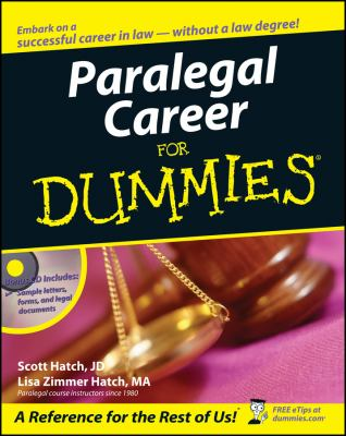 Paralegal Career for Dummies [With CD-ROM] 9780471799566