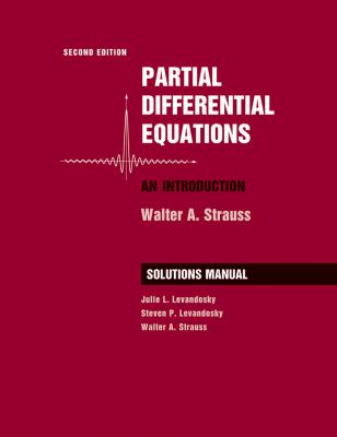Partial Differential Equations, Solutions Manual: An Introduction 9780470260715