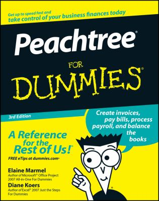Peachtree for Dummies 9780470179888