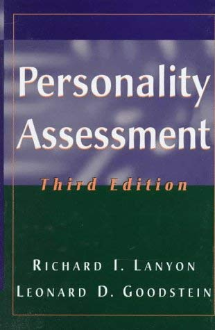 Personality Assessment 9780471555629