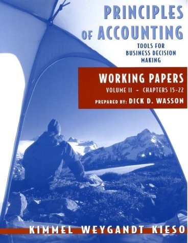 Principles of Accounting, with Annual Report, Working Papers, Vol. II 9780471476184