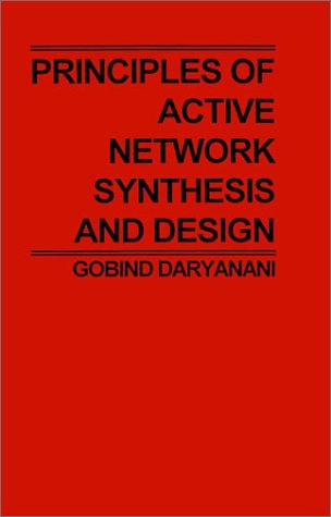 Principles of Active Network Synthesis and Design 9780471195450