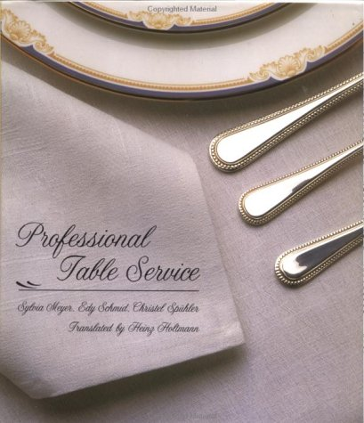 Professional Table Service 9780471289265