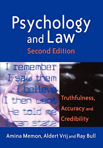 Psychology and Law: Truthfulness, Accuracy and Credibility 9780470850619