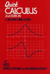 Quick Calculus: A Self-Teaching Guide