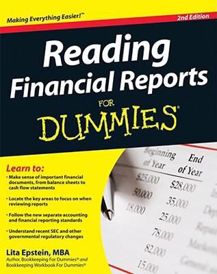 Reading Financial Reports for Dummies 9780470376287