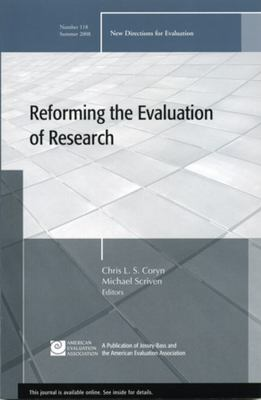 Reforming the Evaluation of Research 9780470382455