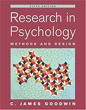 Research in Psychology: Methods and Design 9780471763833
