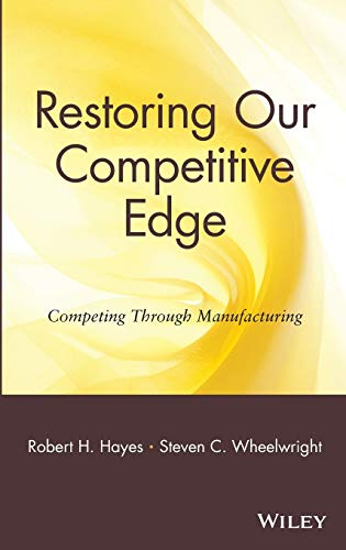 Restoring Our Competitive Edge: Competing Through Manufacturing 9780471051596