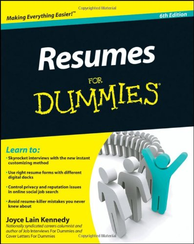 Resumes for Dummies 9780470873618