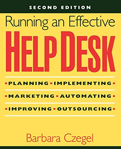 Running an Effective Help Desk 9780471248163
