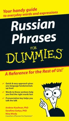 Russian Phrases for Dummies 9780470149744