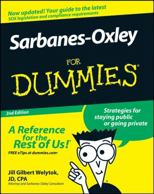 Sarbanes-Oxley for Dummies 9780470223130
