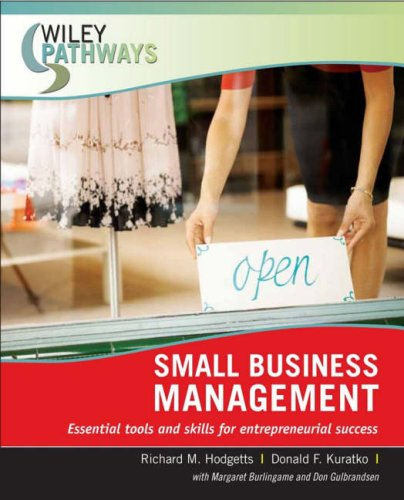 Small Business Management: Essential Tools and Skills for Entrepreneurial Success 9780470111260