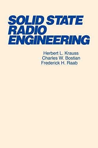 Solid State Radio Engineering 9780471030188
