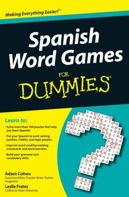 Spanish Word Games for Dummies 9780470502006