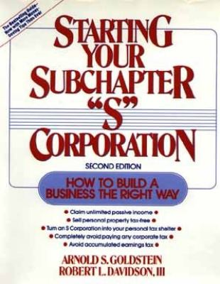 starting right corporation In forming a corporation, prospective shareholders exchange money, property, or both, for the corporation's capital stock a corporation generally takes the same deductions as a sole.