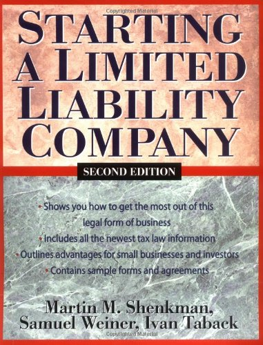 Starting a Limited Liability Company 9780471226642