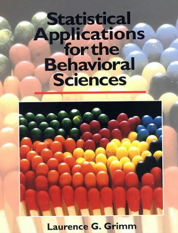 Statistical Applications for the Behavioral Sciences 9780471509820