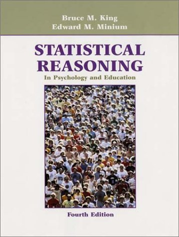 Statistical Reasoning in Psychology and Education 9780471211877