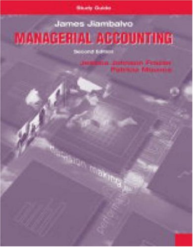 Study Guide: Managerial Accounting 9780471229995