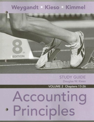 Study Guide, Volume 2: Chapters 13-26 to Accompany Accounting Principles 9780470074091