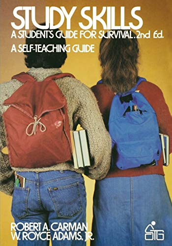 Study Skills: A Student's Guide to Survival 9780471889113