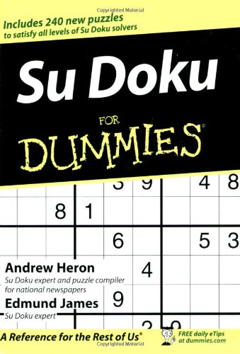 Su Doku for Dummies 9780470018927