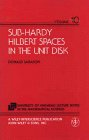 Sub-Hardy Hilbert Spaces in the Unit Disk (The University of Arkansas Lecture Notes in the Mathematical Sciences) Donald Sarason