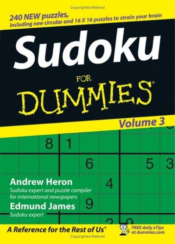 Sudoku for Dummies: Volume 3 9780470026670