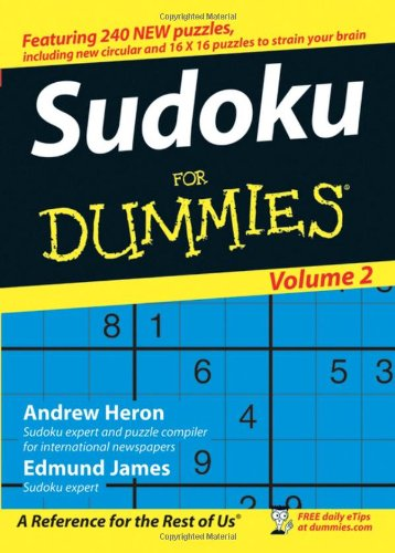 Sudoku for Dummies, Volume 2 9780470026519