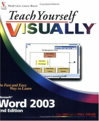 Teach Yourself Visually Microsoft Word 2003 9780471784883