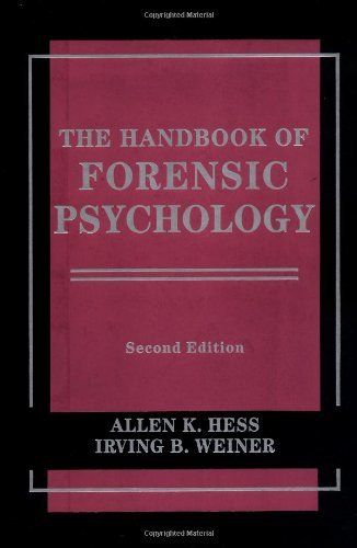 The Handbook of Forensic Psychology 9780471177715