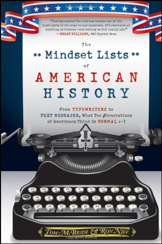 The Mindset Lists of American History: From Typewriters to Text Messages, What Ten Generations of Americans Think Is Normal 9780470876237