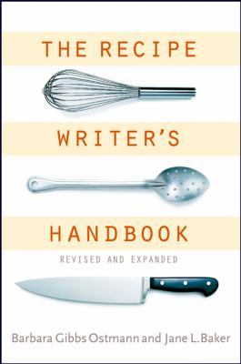 The Recipe Writer's Handbook 9780471405450